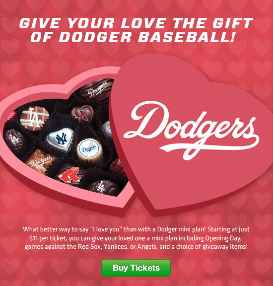 "los angeles dodgers on twitter: ""this valentine's day, give your, Ideas"