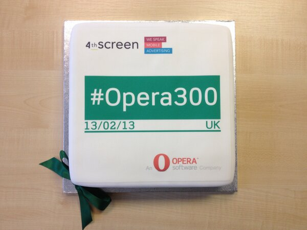 RT @4th_Screen: A huge congratulations to @opera for reaching 300 million users! Happy #opera300 day, from all of us @4th_Screen http://pic.twitter.com/wNrihr9v