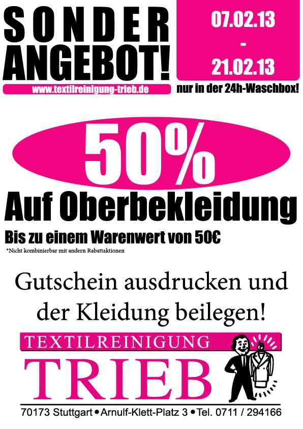 Textilreinigungtrieb On Twitter Jetzt 50 Sparen Bei Der Reinigung