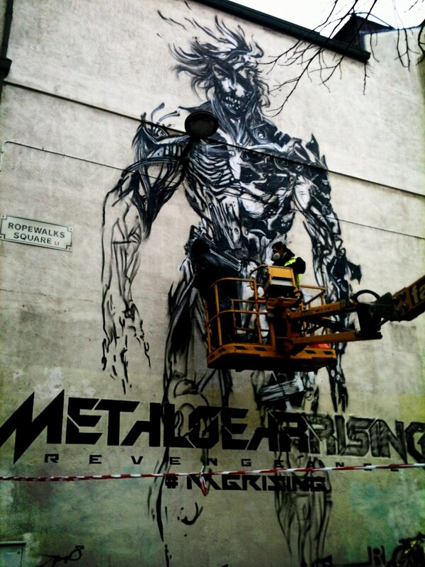 RT @SamLawlan: Metal Gear Rising graffiti in @RopeWalks awesome! #MGRISING http://pic.twitter.com/X0thWkxR