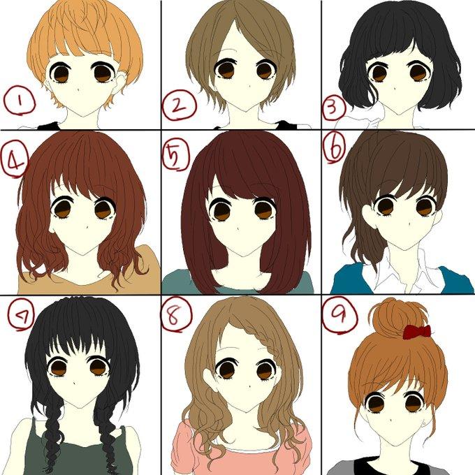 可愛い 髪型 イラスト , ベスト キャラクター, 壁紙,イラスト
