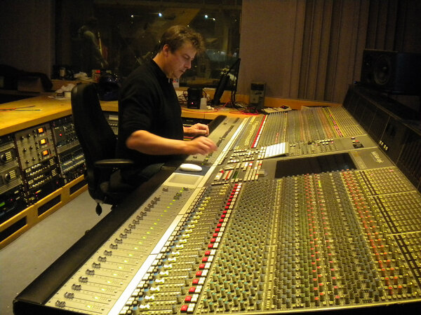 The view from the control room of the @the_bronx session with engineer Simon at the helm. #AAA http://pic.twitter.com/9Dln41A2