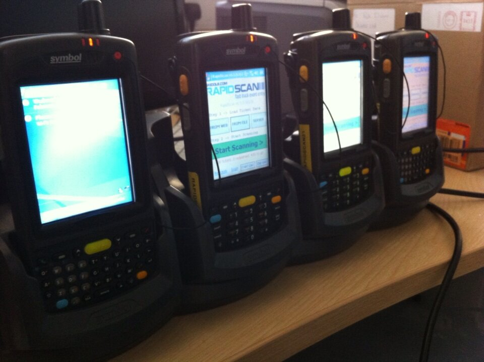 RapidScan Scanners on Charge in Skiddle Offices