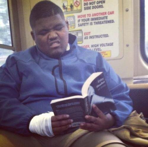 Have hit black man reading are not