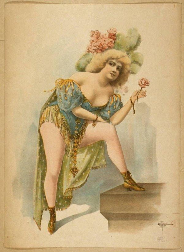 Фривольные открытки 19 века
