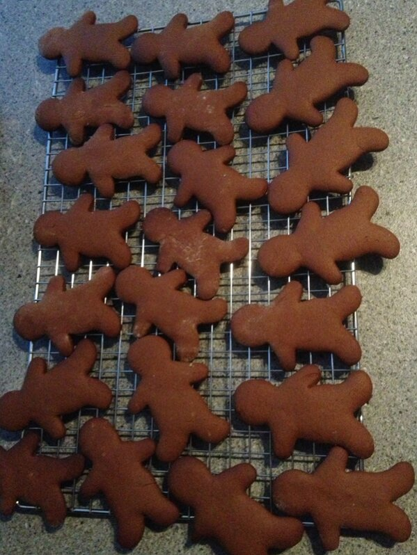 @LouiseTalks The gingerbread is ready! Still can't decide who they're going to be though... x http://t.co/nLya6II7