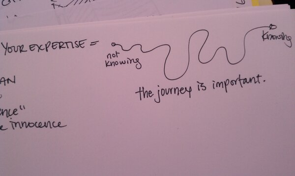 """""""@tonalfreak: """"Your expertise is the journey from not knowing to knowing."""" @danksyN #WIADNYC #WIAD"""" http://pic.twitter.com/BSwFK509"""