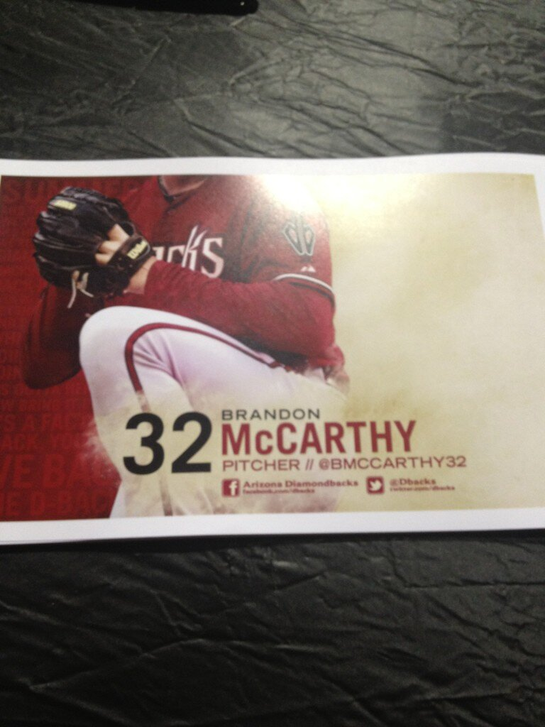 Twitter / BMcCarthy32: Come out to @DBacks fanfest ... on Twitter