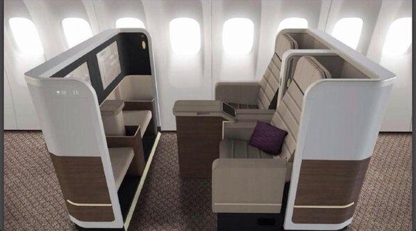 مقاعد الدرجة الأولى على الطائرات الجديدة ٧٧٧-٣٠٠ التي تبدأ بالوصول في شهر أبريل ٢٠١٣م إن شاء الله  #SVfacts http://t.co/o4XiOS9u