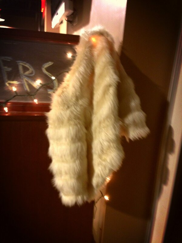 "It's not #99Nights at #DrewU until you found someone's ""fur"" left behind http://pic.twitter.com/cgzEeU2q"