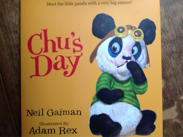 Chu's Day by @neilhimself Brilliant! Yes. Far fetched? No. I once left a circus tent because of sneezing. Chu didn't http://pic.twitter.com/dz8YJZWl