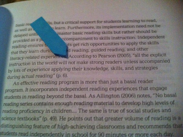 MT @donalynbooks: Nodding my head while reading  Creating Lifelong Readers Through Independent Reading. @IRAToday http://pic.twitter.com/sfBH233L