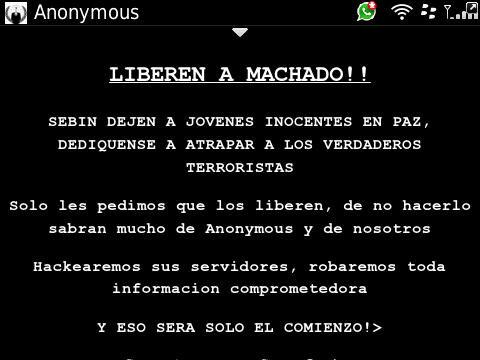 "KIKE 230 on Twitter: ""RT @bad_noel: #AnonymousVenezuela acaba de ..."