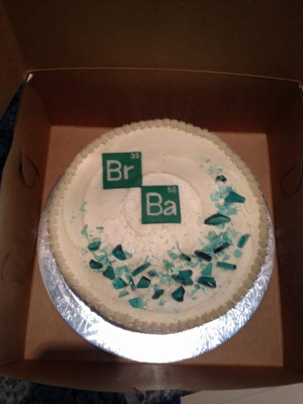 Groovy Rebecca Currie On Twitter Breaking Bad Birthday Cake Came With Funny Birthday Cards Online Overcheapnameinfo