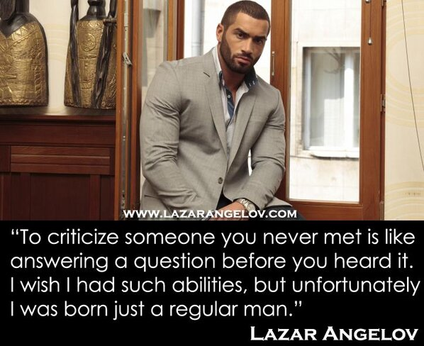 "Lazar Angelov On Twitter: ""To Judge And Criticize Someone"