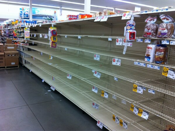 Image result for picture of empty bread aisle