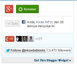 Cara Membuat Widget Sosial Box Di Blog