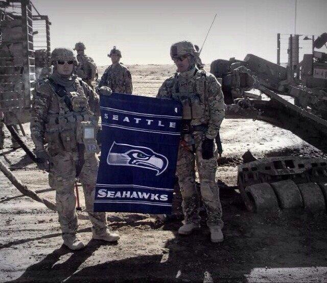 Seahawks fans in Afghanistan