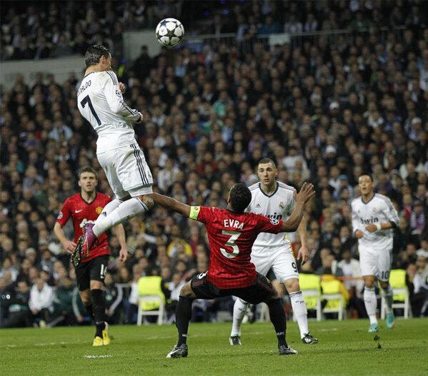 Salto de Cristiano Ronaldo en Manchester