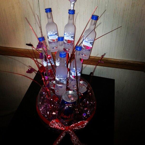 how to make a liquor bouquet