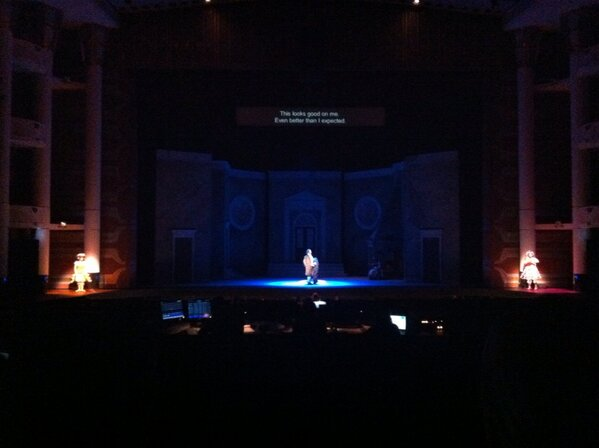 Love that there is captioning at the Opera! #pbocinderella @palmbeachopera http://pic.twitter.com/KibD19Fc
