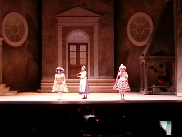 Cinderella and her .. stepsisters, such beautiful singing, sisters' dancing is good too #pbocinderella http://pic.twitter.com/HeGPOxrp