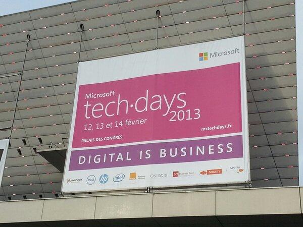 Aux @Microsoft #TechDays j'ai vu @Intel @hp @Osiatis @Sogeti / @Capgemini et bien d'autres encore ! http://pic.twitter.com/cIG1O8Fi
