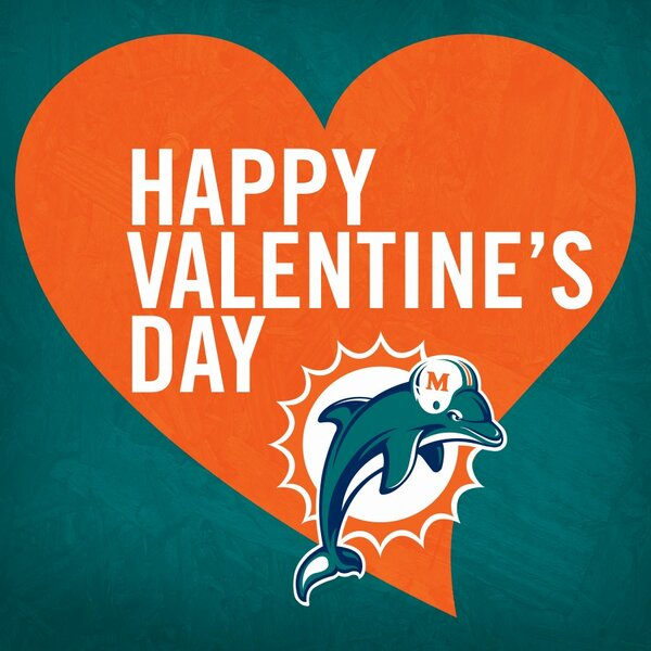 "miami dolphins on twitter: ""happy valentine's day to all of our, Ideas"
