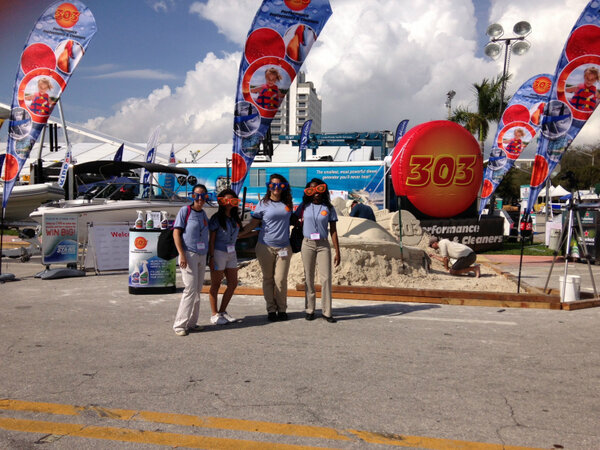 @GoldEagleCo welcomes 303® Products to their family with a SANDTASTIC event at the #MiamiBoatShow! http://t.co/c5WvkH7H