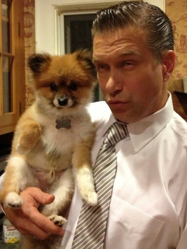Photo of Stephen Baldwin & his  Dog