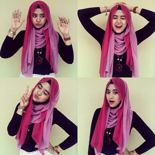 Download Video Tutorial Hijab Segi Empat Natasha Farani Hijab Converse