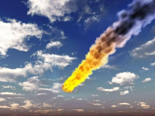 Impresionante foto del Meteorito que cayó hoy en Rusia. http://pic.twitter.com/pwXmYY7y