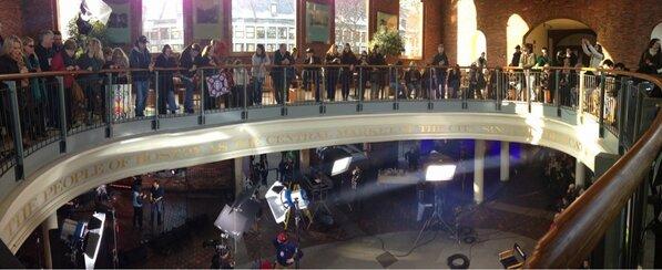 Upstairs panorama #todayinboston @Todayshow in Boston http://pic.twitter.com/OamVfBJ6