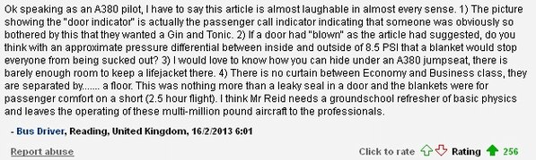 MailOnline article on a plane door 'blowing open' midflight getting bombarded with comments like this one: http://t.co/iRQziLzU