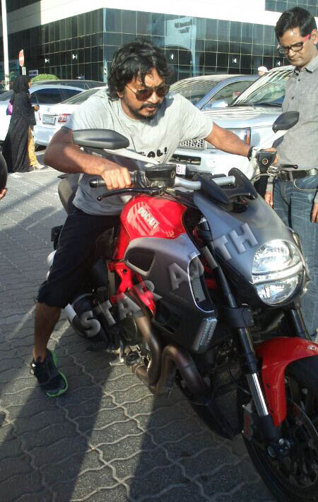 """star ajith on twitter: """"frontal view of the #ducati bike used"""