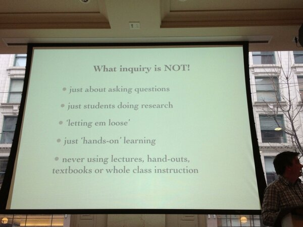 RT @ChrisWejr: What inquiry is NOT... Via @neilstephenson #bcedsfu cc @larryferlazzo http://pic.twitter.com/FSJxbtZl