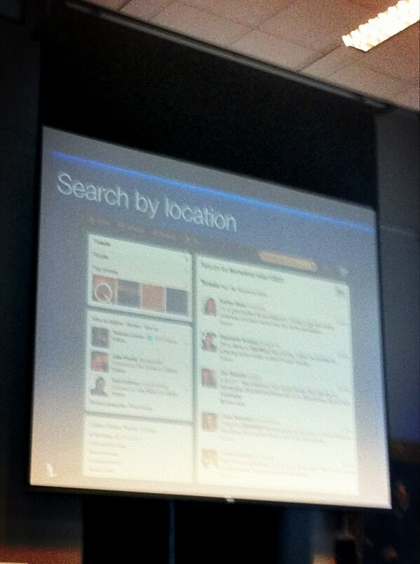 Twitter search: you can search by zipcode now - what people nearby are tweeting about. #smwknd http://pic.twitter.com/qnMbLqKo