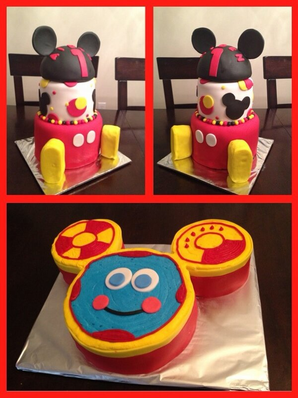 Amazing Rays 3D Cakes On Twitter Mickey Mouse 1St Birthday Cake With A Funny Birthday Cards Online Alyptdamsfinfo