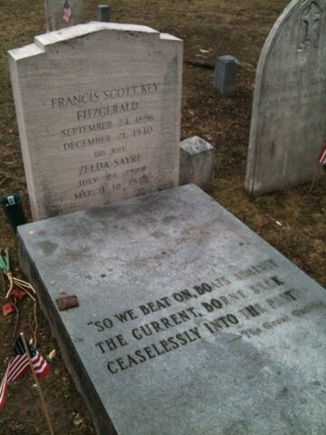 F. Scott Fitzgerald's grave, St. Mary's, Rockville