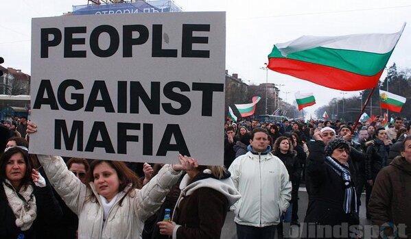 """#Bulgaria anti-monipolist protest: """"People against mafia"""" http://pic.twitter.com/5QdKWjaR"""