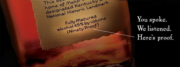 Reconsidered? From Maker's Mark FB page... #makersmark http://pic.twitter.com/otQpfPSh