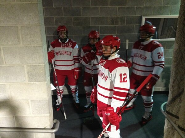 The Badgers are in the tunnel. Game faces galore! #HCC http://pic.twitter.com/10Gowfvd