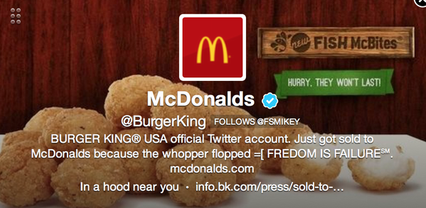 Oh man, @burgerking account got hacked! http://pic.twitter.com/PvZA5IIh