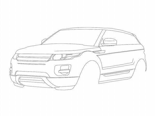 range rover evoque coloring pages