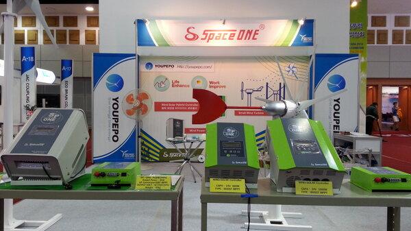제주에서 열리고 있는, 아시아풍력 에너지박람회에 왔습니다. 풍력에너지의 밝은 전망을 느낍니다. http://t.co/5tYl6tgz82