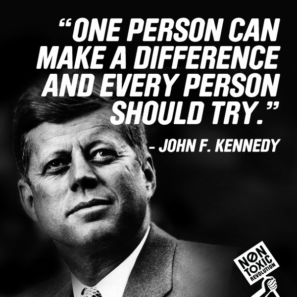 """""""One person can make a difference and every person should try."""" - John F. Kennedy #MantraMonday #PresidentsDay http://t.co/Npmcz7Rl"""