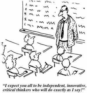 "RT @justintarte: ""Our schools have way too much compliance & way too little engagement."" Image cc @danielpink #edchat http://pic.twitter.com/1WPR6cyv"