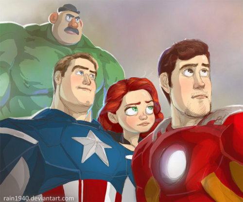 "RT @TheStarkOne: Toy Story 4 : ""I have an army."" ""We have a Mr Potato Hulk."" http://pic.twitter.com/98gQVcOG"