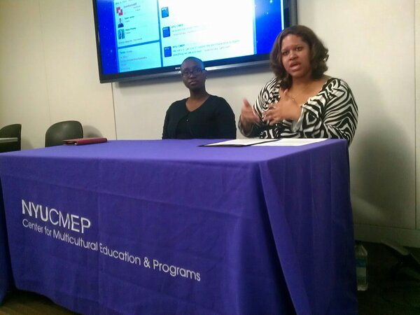 @andreaplaid and @ayannamaia dropping knowledge. Props to @NYUCMEP and @nyuwasserman for a great making it in media http://pic.twitter.com/imrspqMn