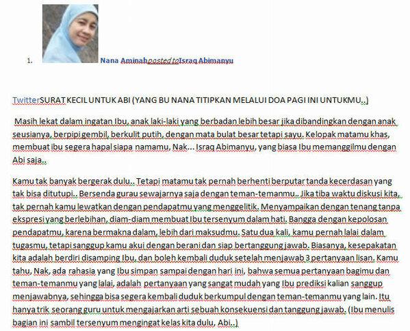 Sudiroabimanyu On Twitter Surat Ibu Guru Nana Untuk